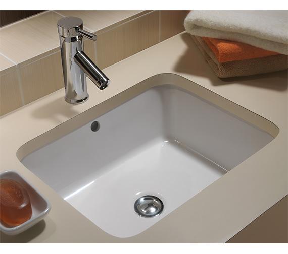Image 3 of Twyford Moda Under Countertop Washbasin 460 x 410mm - MD4510WH