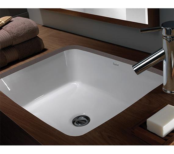 Image 4 of Twyford Moda Under Countertop Washbasin 460 x 410mm - MD4510WH