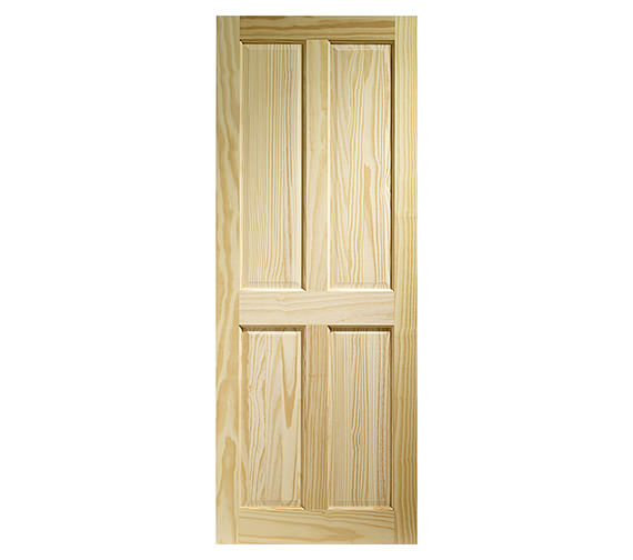 XL Internal Victorian 4 Panel Clear Pine Fire Door - CPIN4P27-FD Image