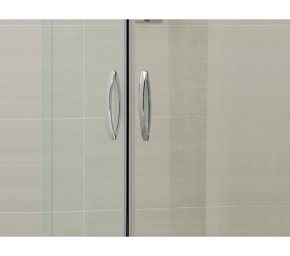 Image 3 of April Identiti2 Double Door Offset Shower Quadrant 1000 x 800mm Silver