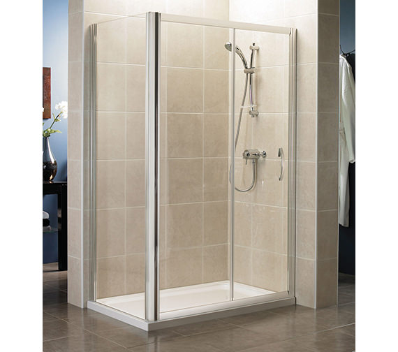 April identiti2 sliding shower door 1000mm silver for 1000mm shower door