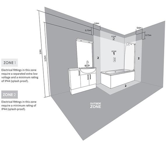 Image 3 of Tavistock Momentum LED Illuminated Bathroom Mirror 450mm x 700mm