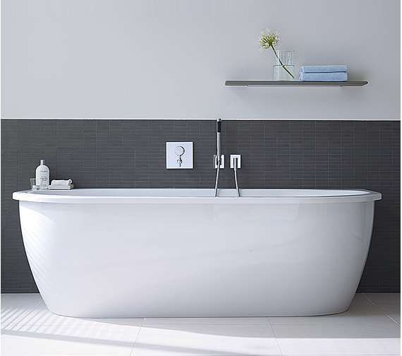 Image 3 of Duravit Darling New Back-To-Wall Bathtub 1900x900mm White - 700248