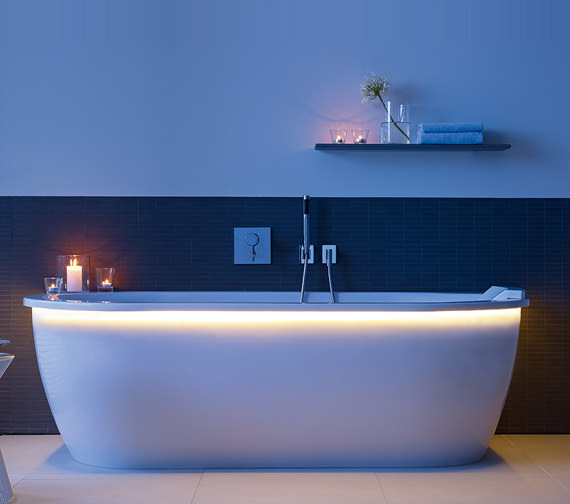 Image 4 of Duravit Darling New Back-To-Wall Bathtub 1900x900mm White - 700248