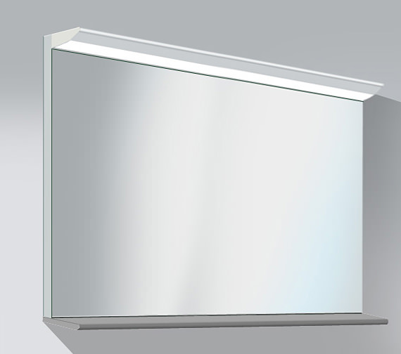 Duravit Darling New 1200 x 800mm Mirror With Lightning And Wooden Shelf Image