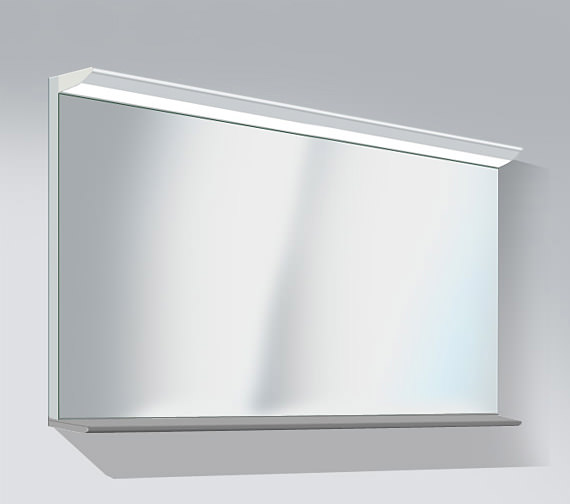 Duravit Darling New 1500 x 800mm Mirror With Lightning And Wooden Shelf Image