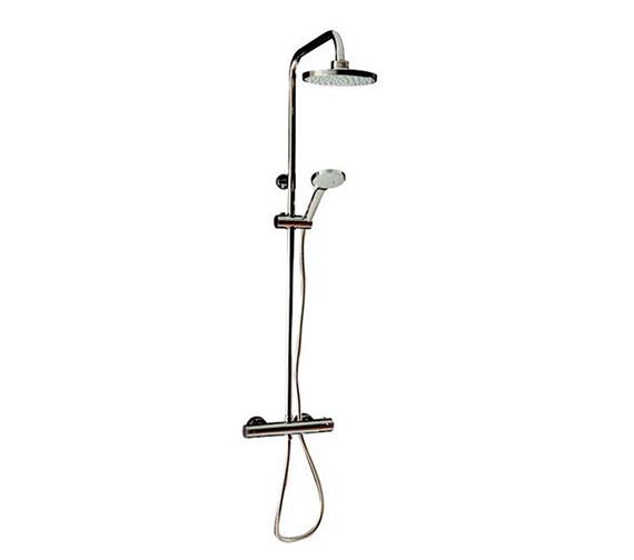 Tre Mercati Round Exposed Thermostatic Shower Valve With Shower Set Image